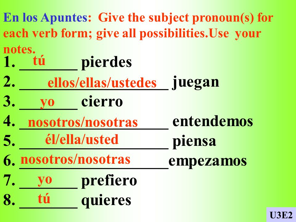 Repaso del diálogo En los Apuntes: Unscramble the following sentences adding the necessary punctuation. 1. un poco / Quieres / conmigo / practicar 2.