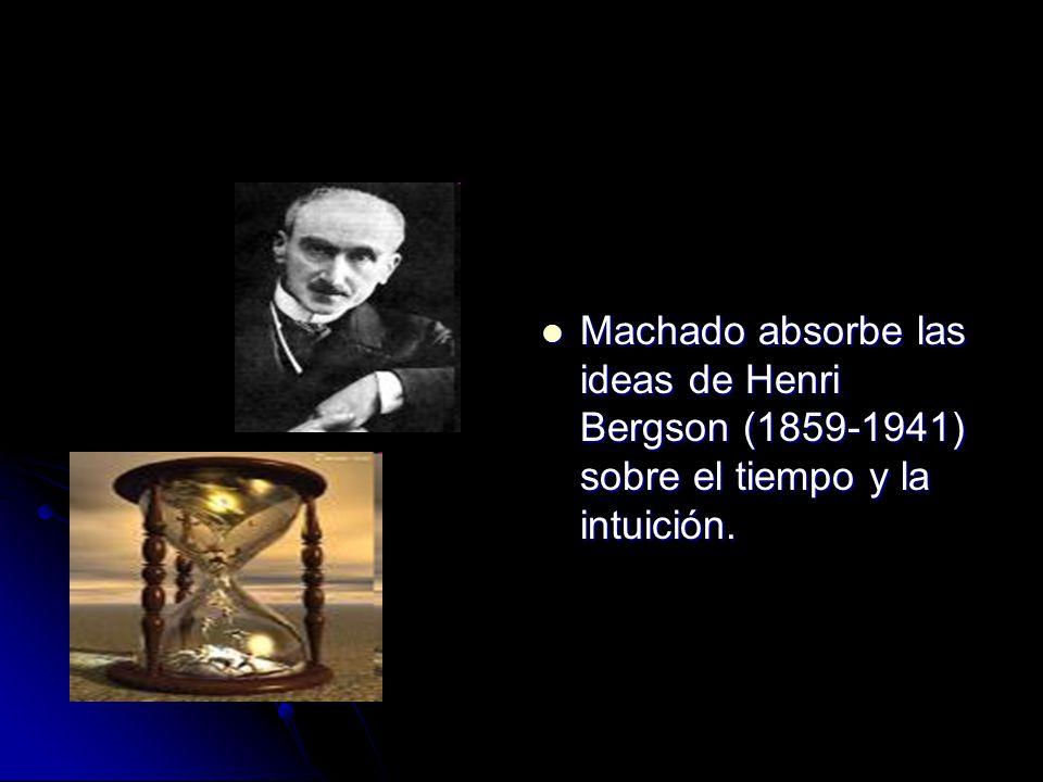Machado absorbe las ideas de Henri Bergson (1859-1941) sobre el tiempo y la intuición.