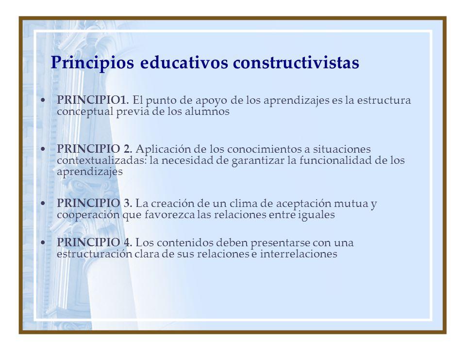 Principios educativos constructivistas PRINCIPIO1.