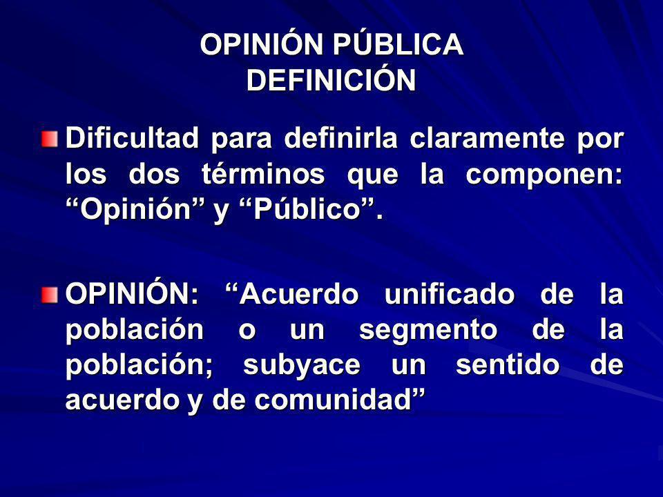 HACIA UNA TEORÍA DE LA OPINIÓN PÚBLICA 1.