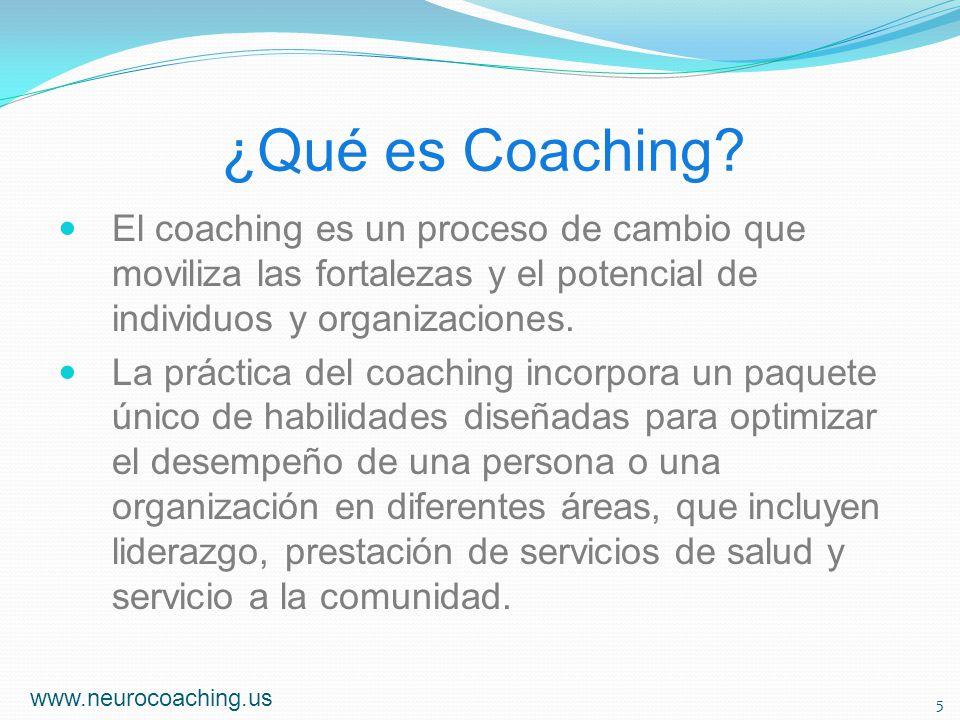 ¿Qué es Coaching? El coaching es un proceso de cambio que moviliza las fortalezas y el potencial de individuos y organizaciones. La práctica del coach