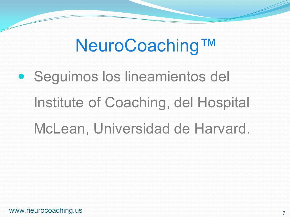Áreas de NeuroCoaching Investigación - Educación Liderazgo Prestación de Servicios de Salud Salud Ocupacional y Seguridad Psicología Positiva Aplicada www.neurocoaching.us 8