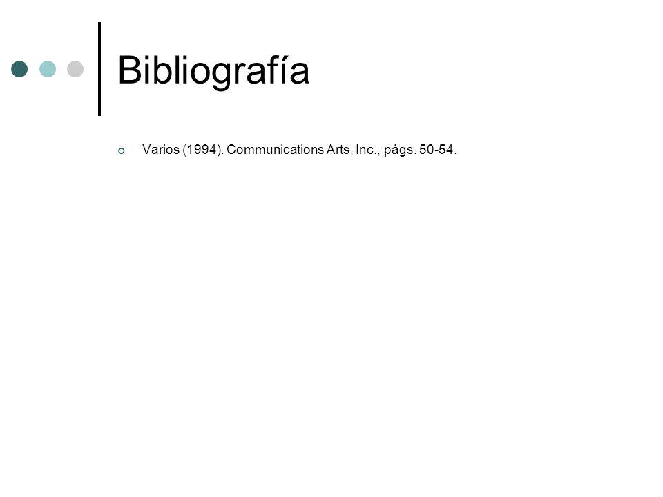 Bibliografía Varios (1994). Communications Arts, Inc., págs. 50-54.