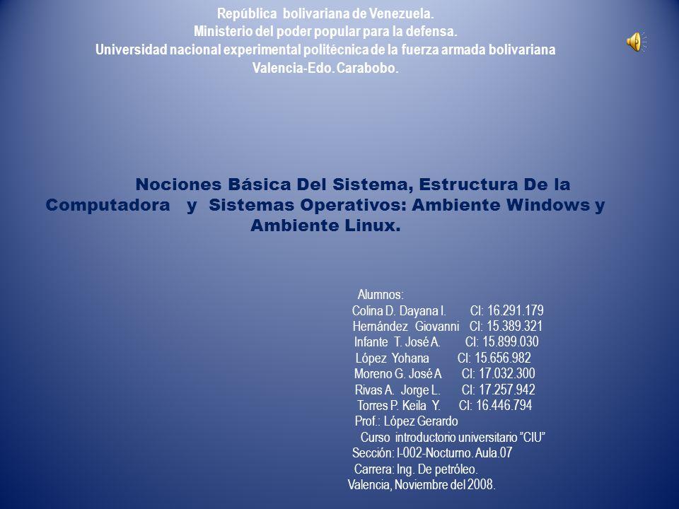 Nociones básica del sistema (System).