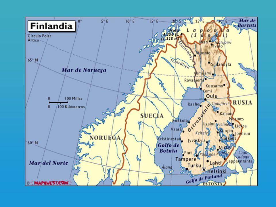 Datos Generales Capital: Helssinski Población : 5.1 millones de habitantes Superficie terrestre: 304.590 Km2.