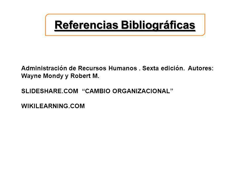Referencias Bibliográficas Administración de Recursos Humanos.