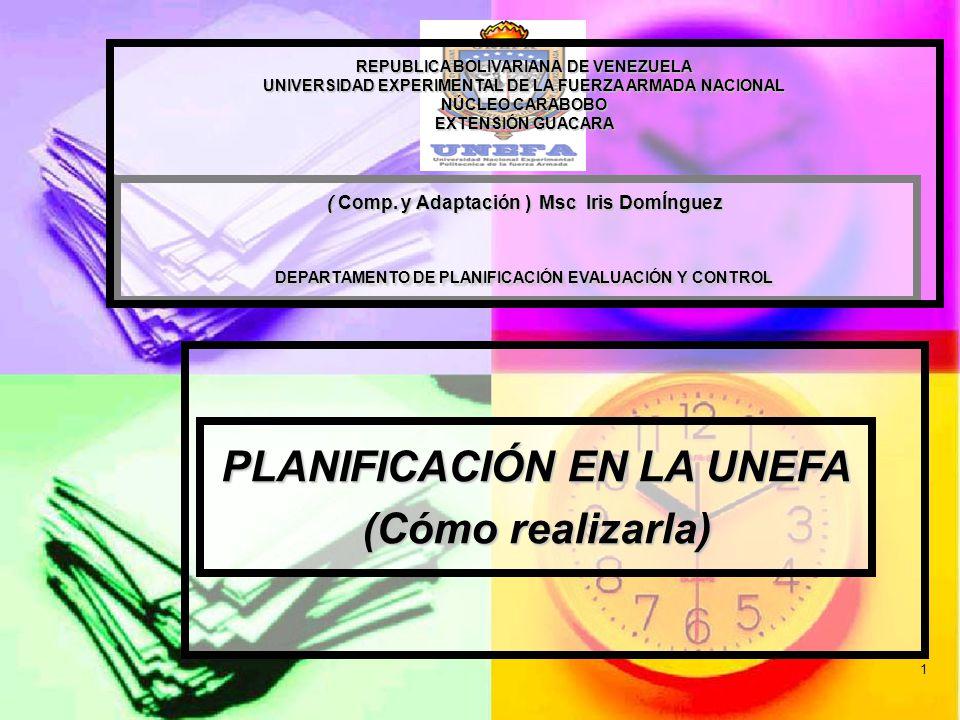 1 REPUBLICA BOLIVARIANA DE VENEZUELA UNIVERSIDAD EXPERIMENTAL DE LA FUERZA ARMADA NACIONAL NÚCLEO CARABOBO EXTENSIÓN GUACARA ( Comp.