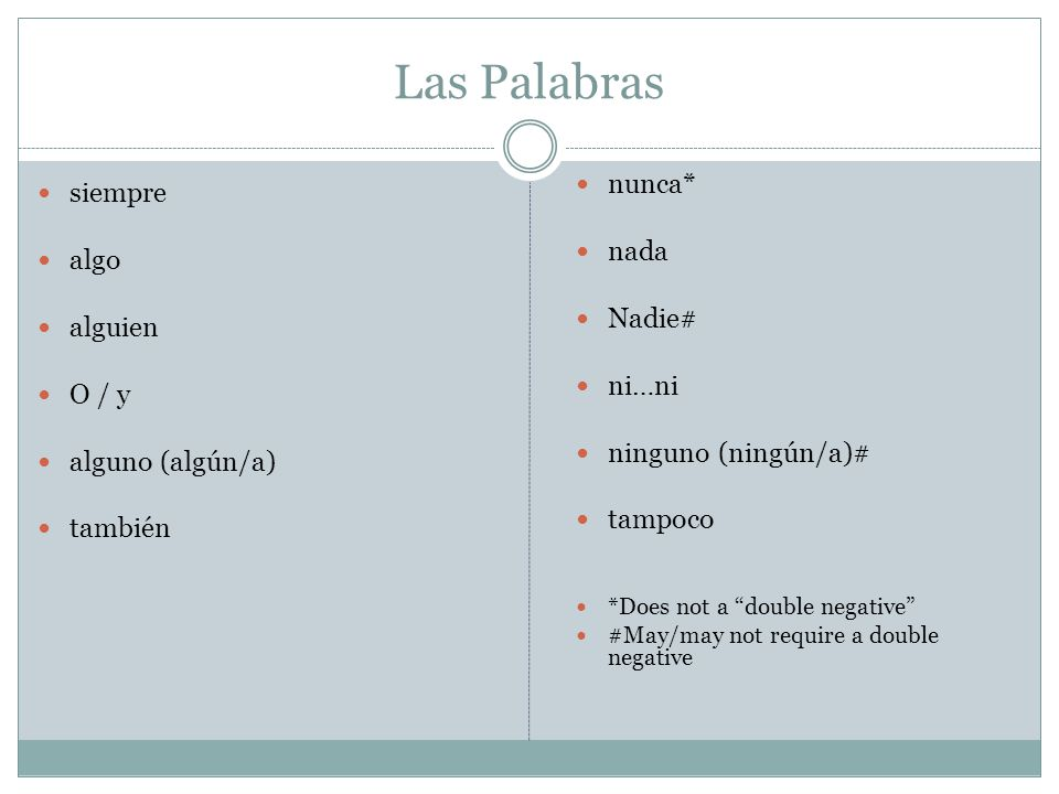 Nunca is placed in the same location as no (before the verb) and can replace no in double negatives.