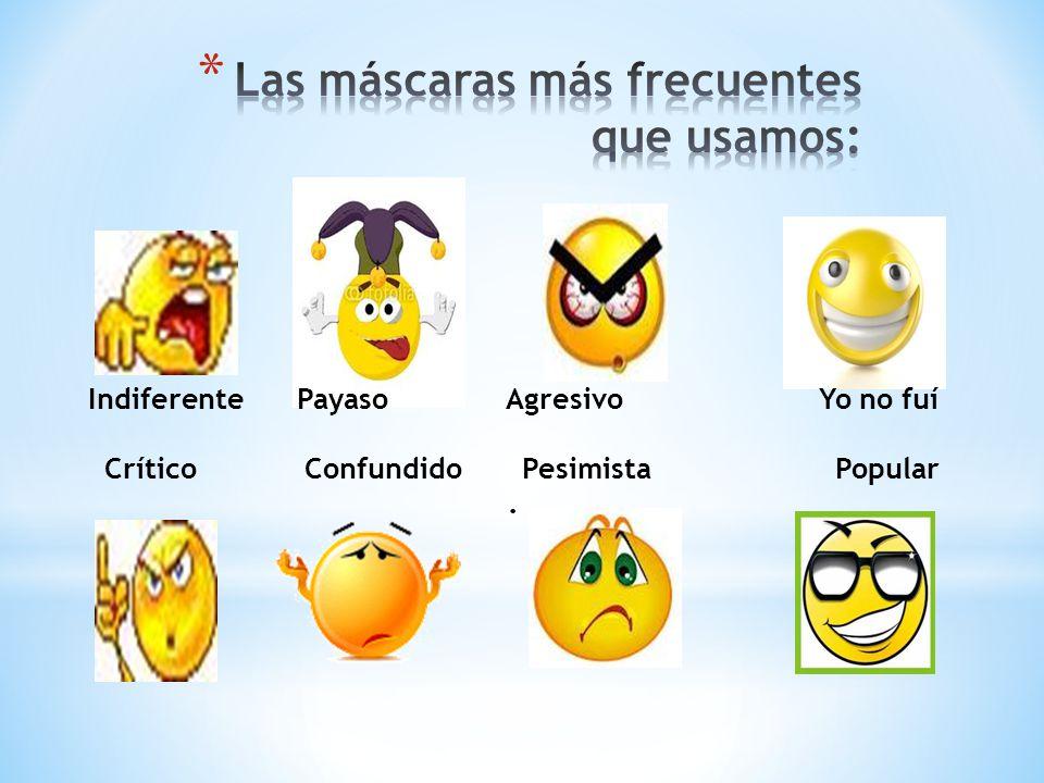 IndiferentePayasoAgresivoYo no fuí Crítico Confundido Pesimista Popular.