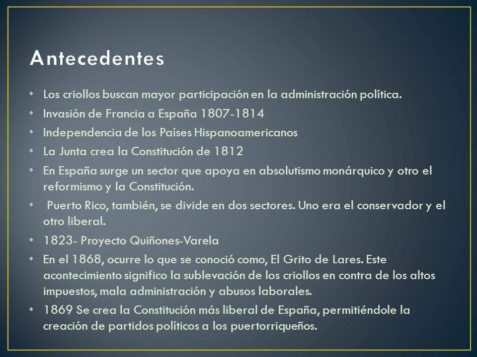 Los criollos buscan mayor participación en la administración política. Invasión de Francia a España 1807-1814 Independencia de los Países Hispanoameri
