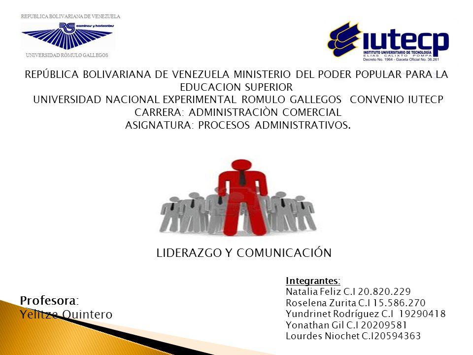 REPÚBLICA BOLIVARIANA DE VENEZUELA MINISTERIO DEL PODER POPULAR PARA LA EDUCACION SUPERIOR UNIVERSIDAD NACIONAL EXPERIMENTAL ROMULO GALLEGOS CONVENIO