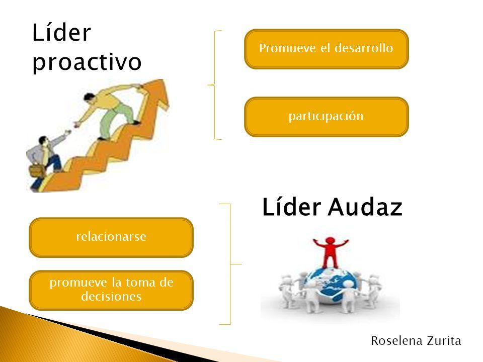 Promueve el desarrollo participación Líder Audaz promueve la toma de decisiones relacionarse Roselena Zurita