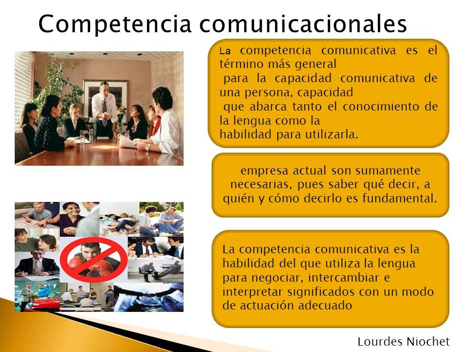 La competencia comunicativa es el término más general para la capacidad comunicativa de una persona, capacidad que abarca tanto el conocimiento de la