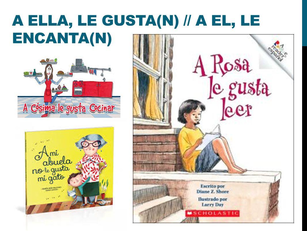 A ELLA, LE GUSTA(N) // A EL, LE ENCANTA(N)
