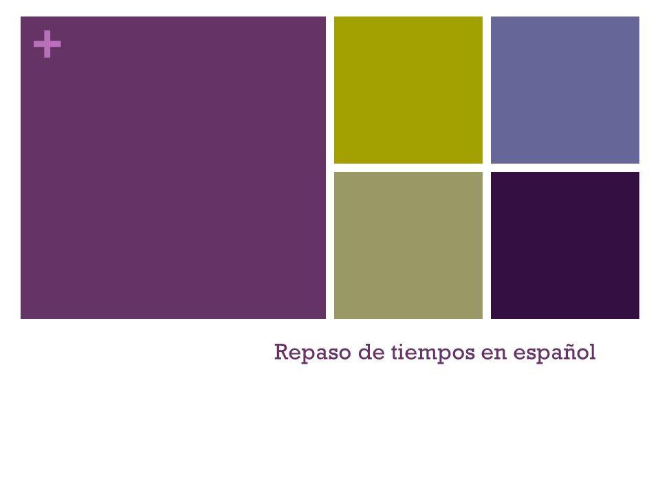 + Repaso de tiempos en español