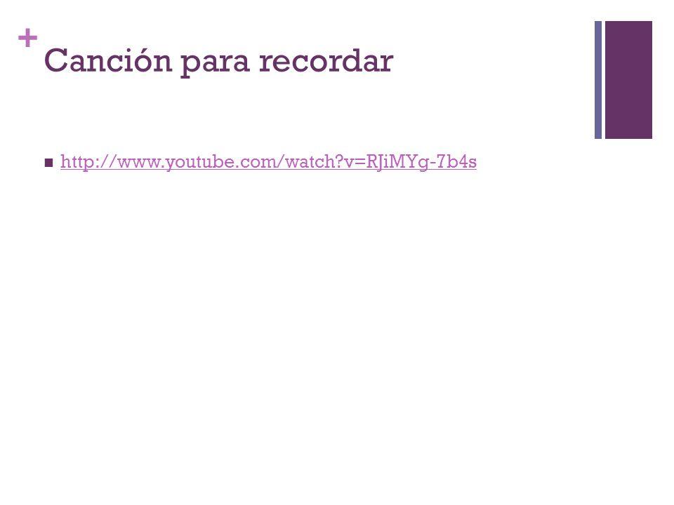 + Canción para recordar http://www.youtube.com/watch?v=RJiMYg-7b4s