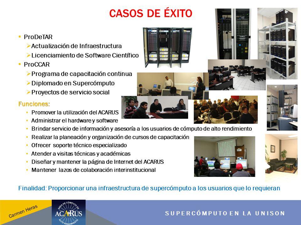 SUPERCÓMPUTO EN LA UNISON Carmen Heras PERFIL DE LOS PROYECTOS Tecnológicos Académicos Interinstitucionales