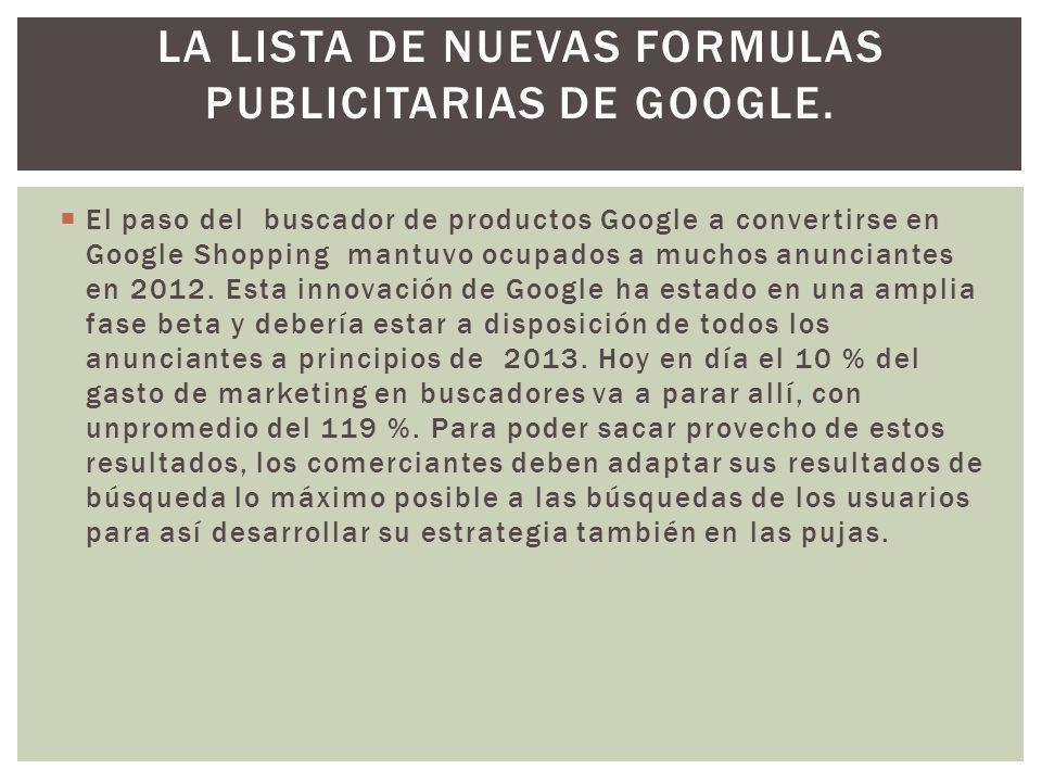 El paso del buscador de productos Google a convertirse en Google Shopping mantuvo ocupados a muchos anunciantes en 2012.