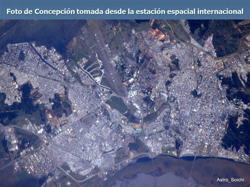 Foto de Concepción tomada desde la estación espacial internacional