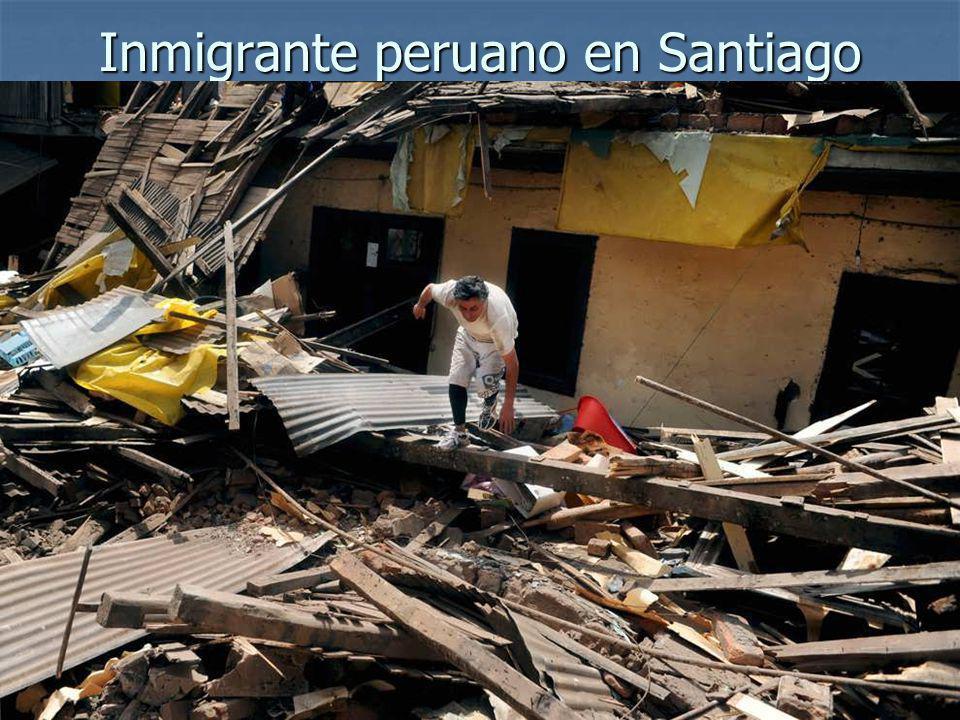 Inmigrante peruano en Santiago