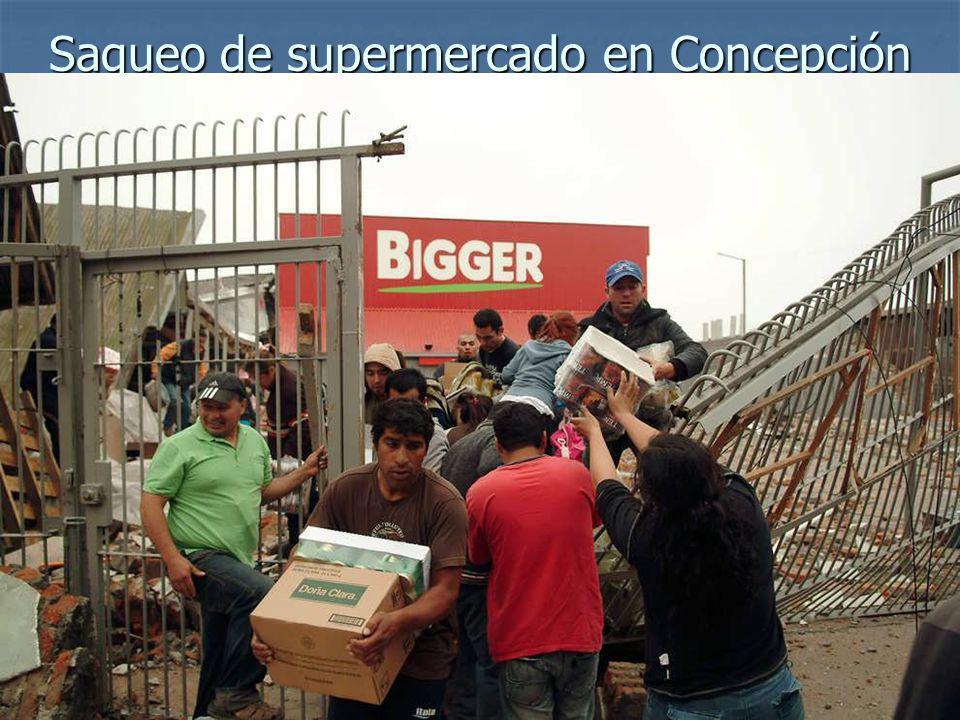 Saqueo de supermercado en Concepción