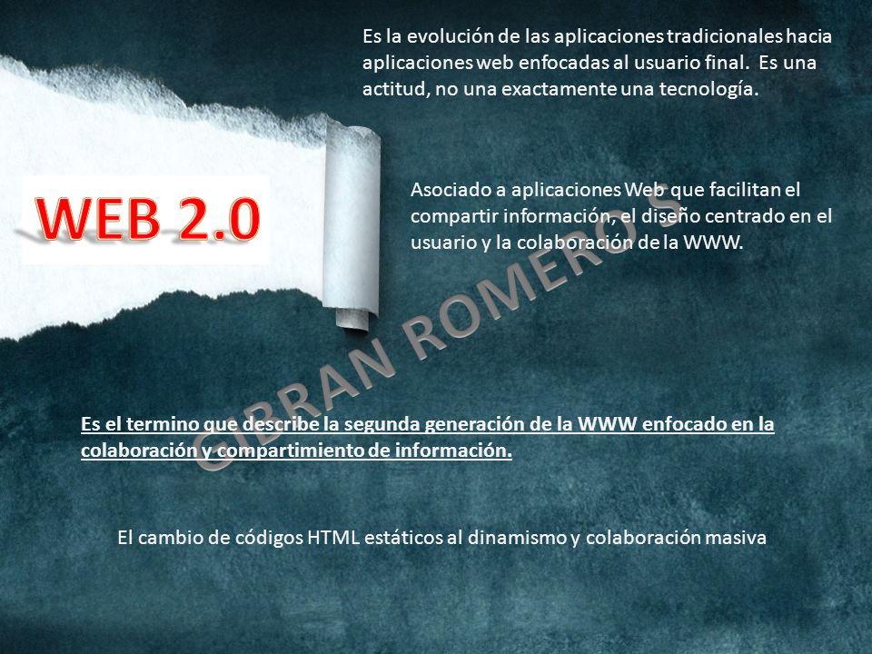 Es la evolución de las aplicaciones tradicionales hacia aplicaciones web enfocadas al usuario final.