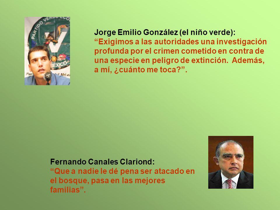 Jorge Emilio González (el niño verde): Exigimos a las autoridades una investigación profunda por el crimen cometido en contra de una especie en peligro de extinción.
