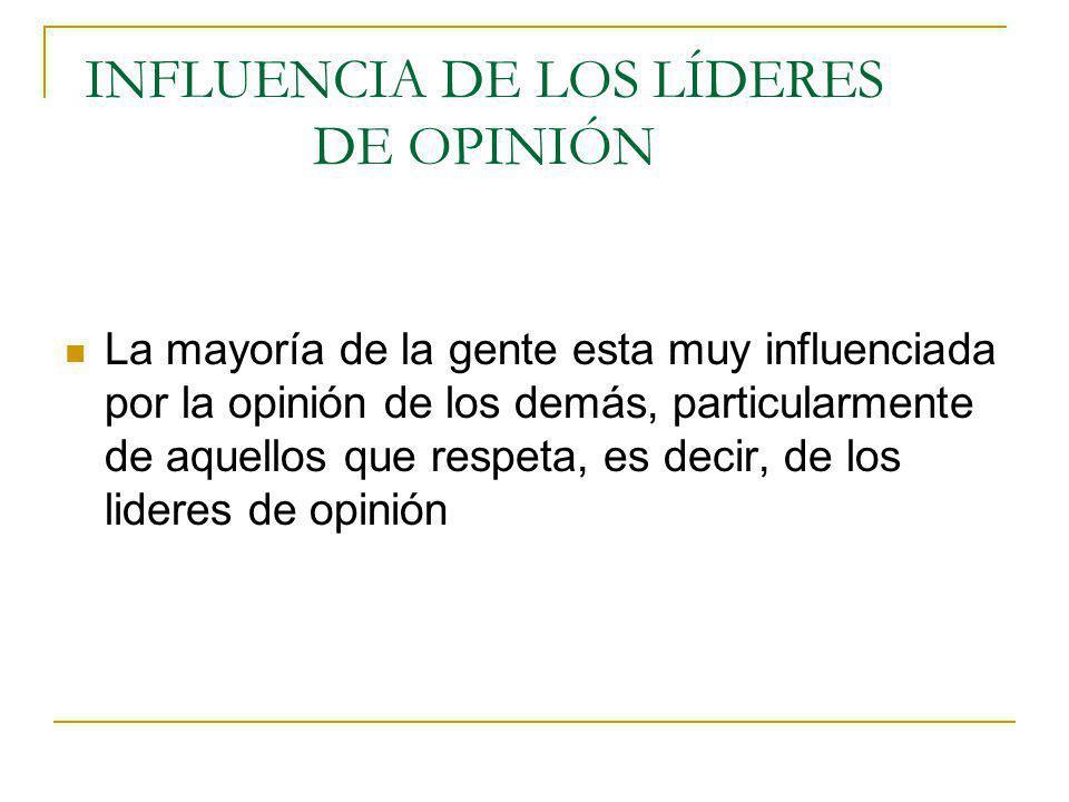 Existen dos categorías de LOP 1.Los que son líderes formales, en virtud de su rango o posición.