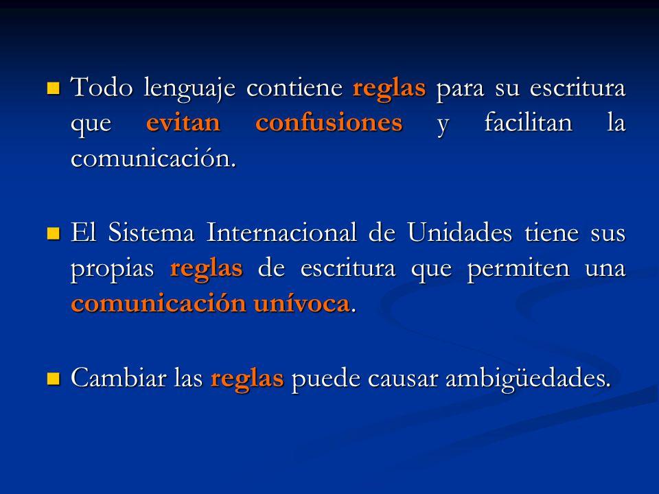 Todo lenguaje contiene reglas para su escritura que evitan confusiones y facilitan la comunicación. Todo lenguaje contiene reglas para su escritura qu