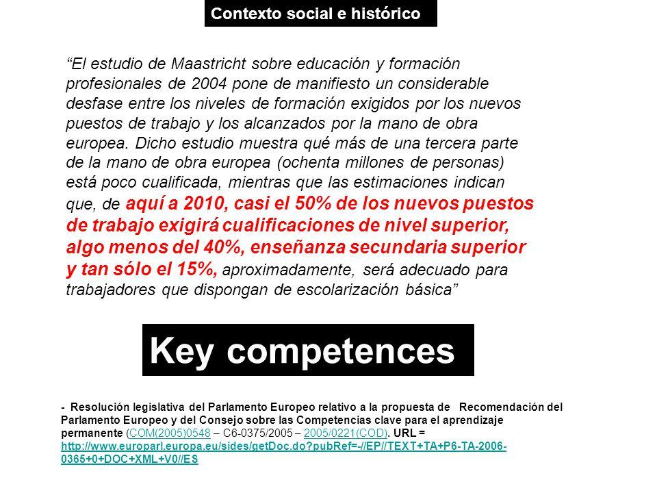 El estudio de Maastricht sobre educación y formación profesionales de 2004 pone de manifiesto un considerable desfase entre los niveles de formación e