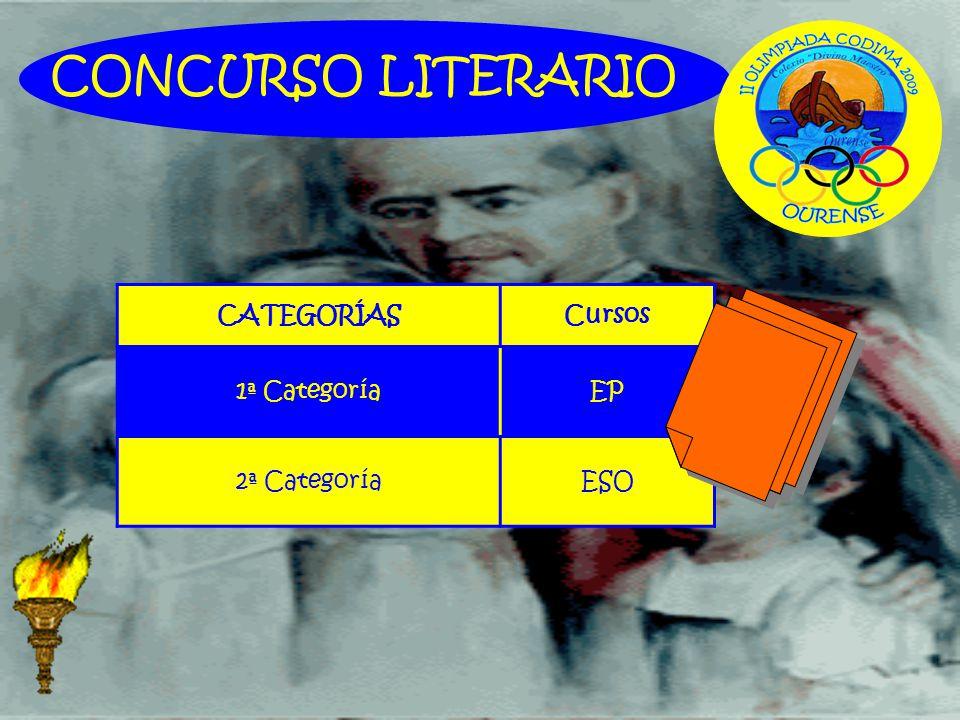 CONCURSO LITERARIO CATEGORÍASCursos 1ª CategoríaEP 2ª CategoríaESO