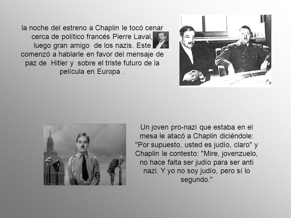 El gran dictador se estrenaba en los teatros Astor y Capitol de Nueva York el 15 de octubre de 1940.