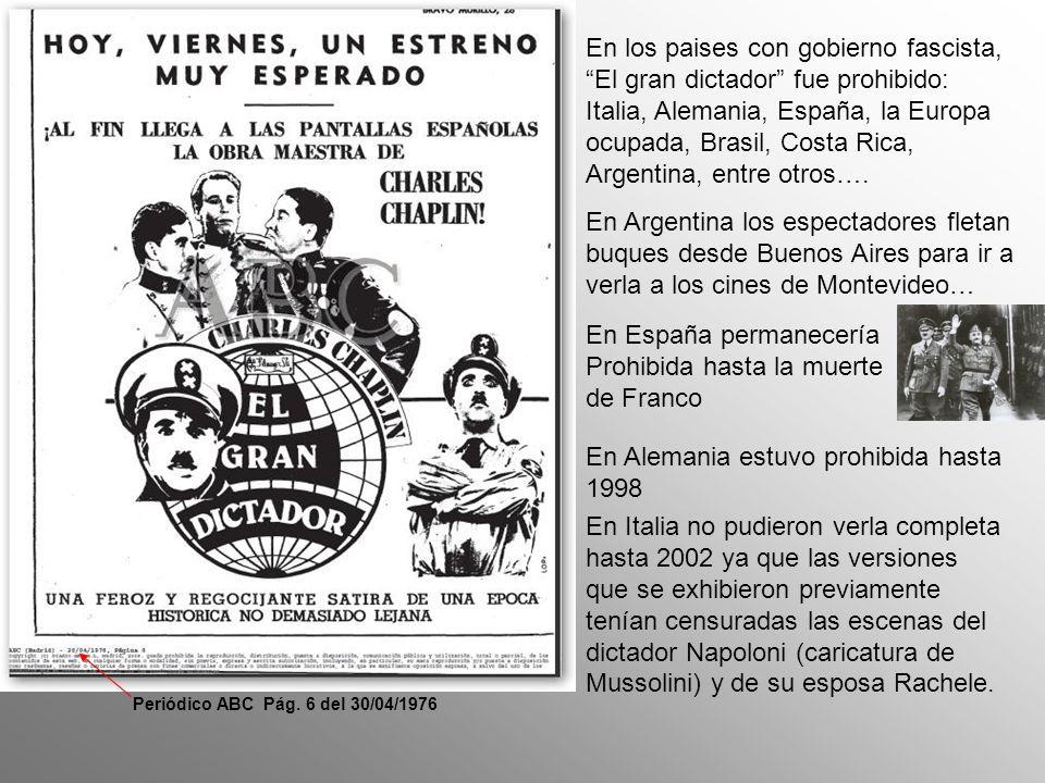 En Estados Unidos predominaba los aislacionistas , y los grupos pronazis inundaron el estudio de Chaplin con cartas y amenazas.