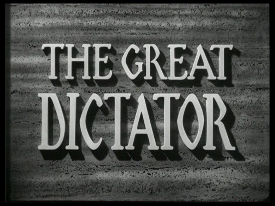 Si Hubiera tenido conocimiento de los horrores de los campos de concentración alemanes no habría podido rodar EL GRAN DICTADOR: No habría podido burla