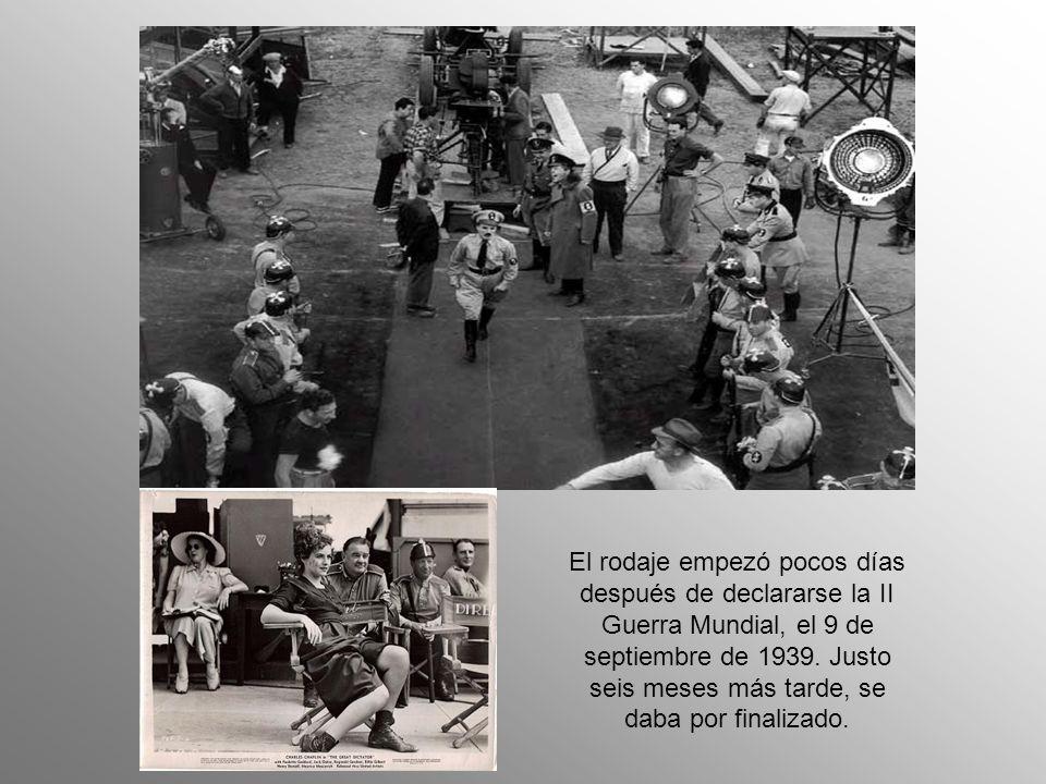 El rodaje empezó pocos días después de declararse la II Guerra Mundial, el 9 de septiembre de 1939.
