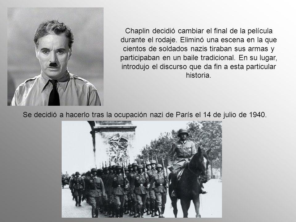 En los paises con gobierno fascista, El gran dictador fue prohibido: Italia, Alemania, España, la Europa ocupada, Brasil, Costa Rica, Argentina, entre otros….