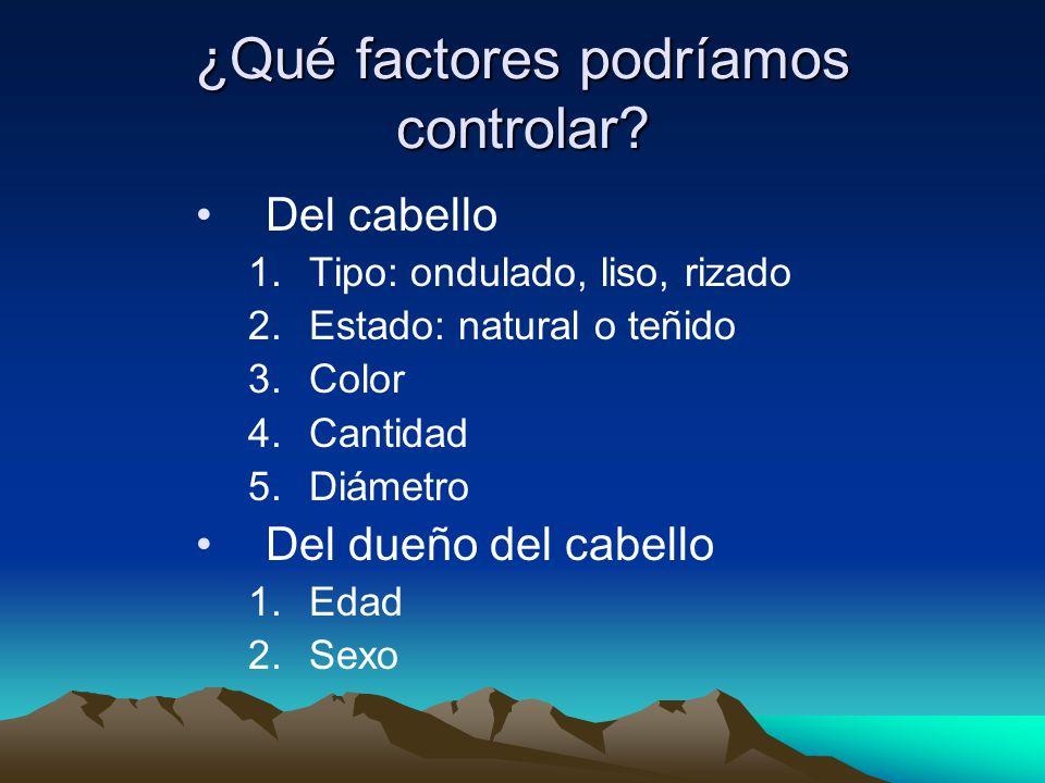 ¿Qué factores podríamos controlar.