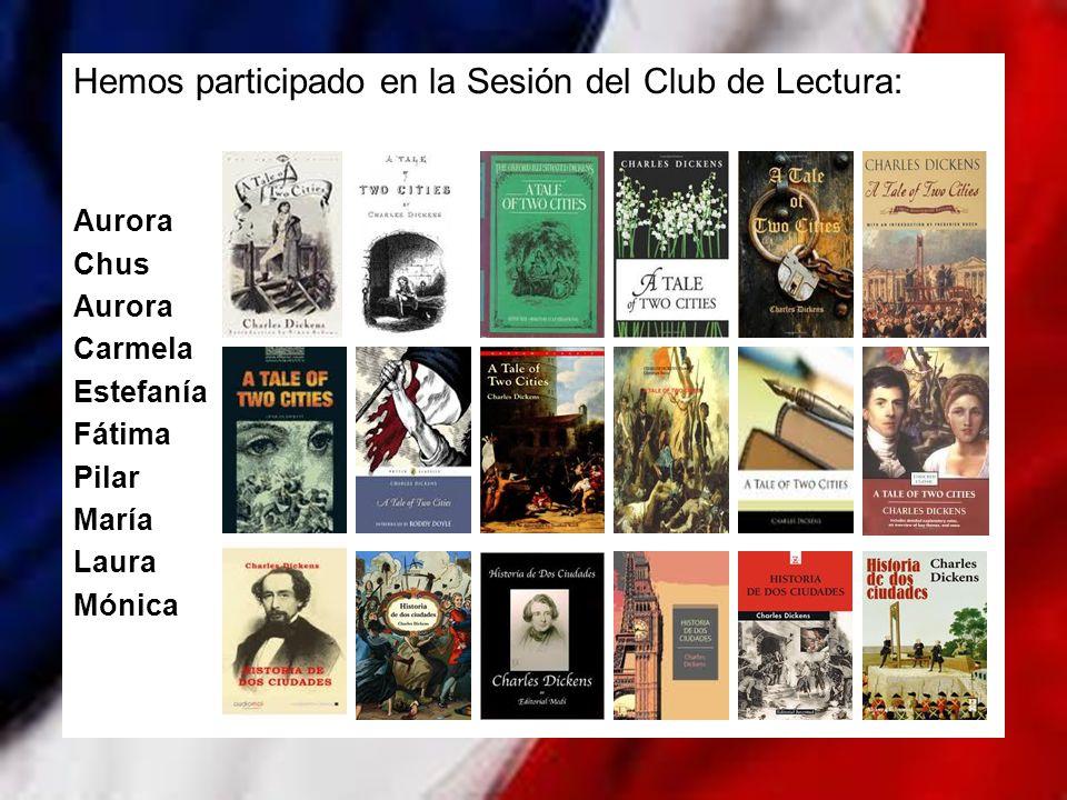Hemos participado en la Sesión del Club de Lectura: Aurora Chus Aurora Carmela Estefanía Fátima Pilar María Laura Mónica