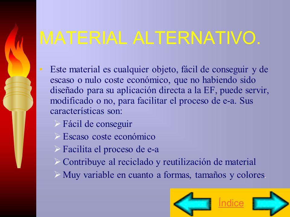 MATERIAL NO CONVENCIONAL Se refiere a aquel material que no ha sido utilizado tradicionalmente en EF. Se puede clasificar en: Material construido por