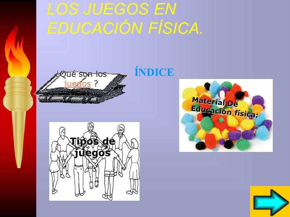 LOS JUEGOS EN EDUCACIÓN FÍSICA Índice