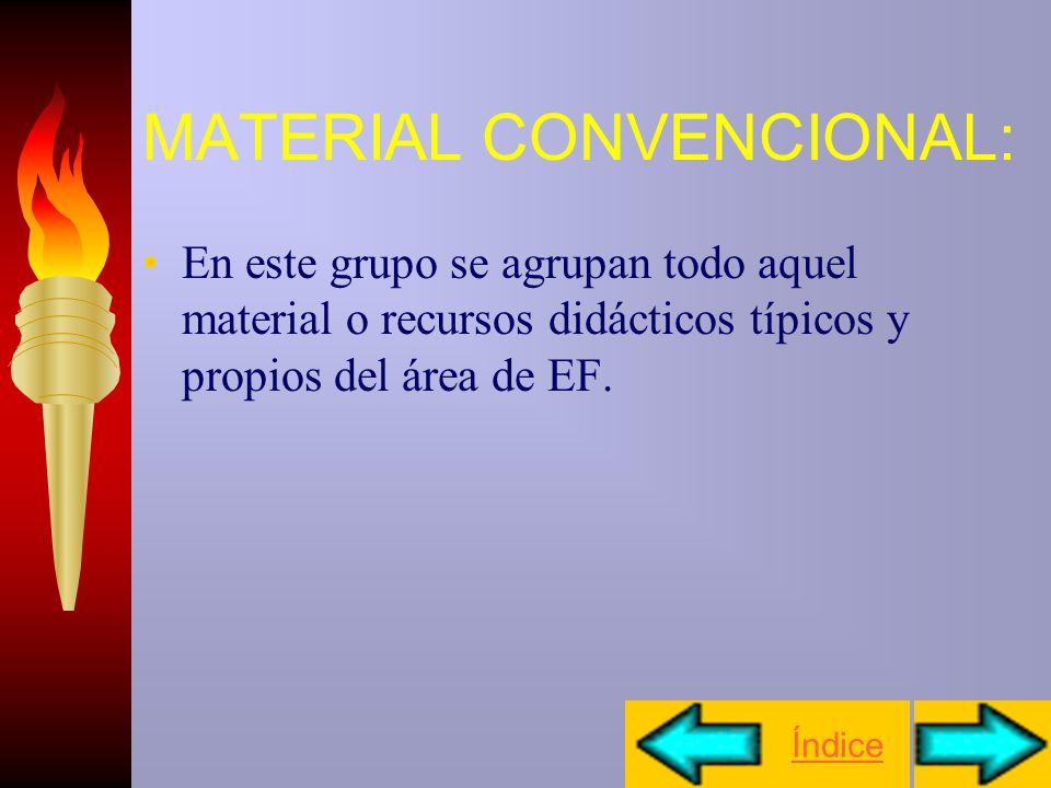 MATERIAL EN EF Material convencional Material no convencional Material alternativo. Índice