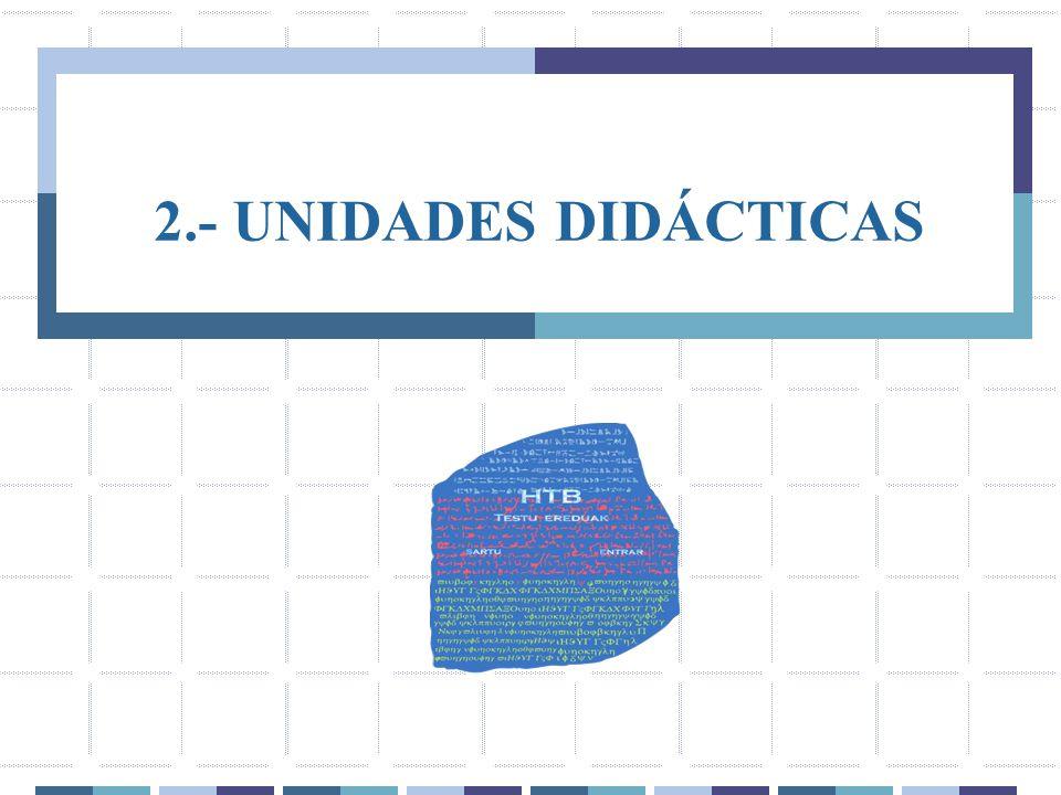 2.- UNIDADES DIDÁCTICAS