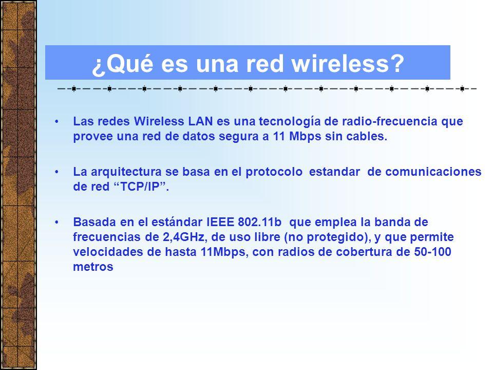 REDES INALÁMBRICAS Wireless LAN Telefonía móvil Marzo de 2004 INDICE 1.Que es una red inalámbrica 2.De que elementos se compone 3.Ventajas 4.Nueva generación de móviles 5.Ejemplos de Futuro