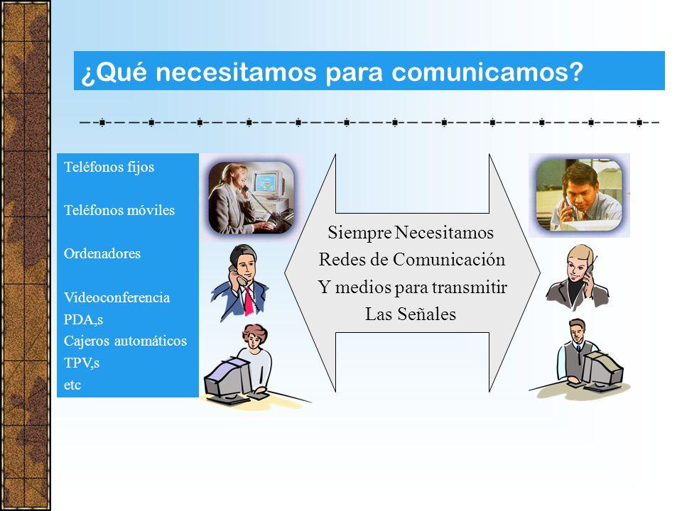 ¿Cómo nos comunicamos en la actualidad? Internet Accesos vía Satélite SATELITE REDES FIJAS REDES TELEFONIA MOVIL RECINTOS PRIVADOS CON HILOS O SIN HIL