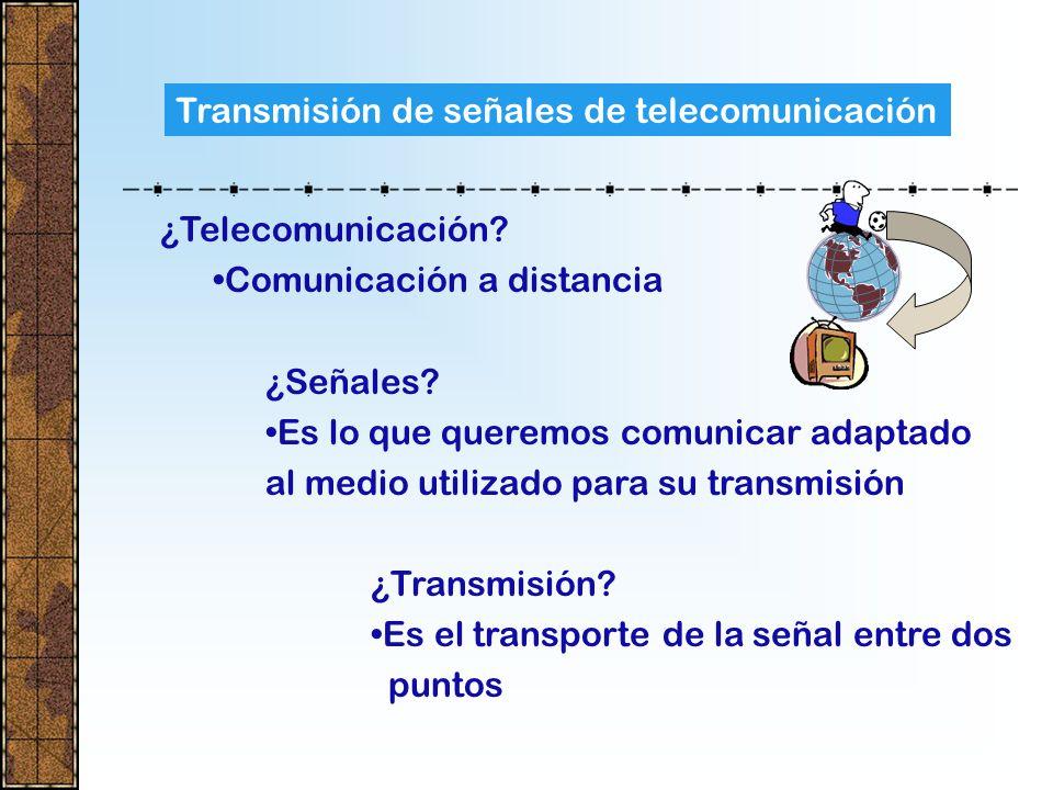 Transmisión de señales de telecomunicación ¿Telecomunicación.