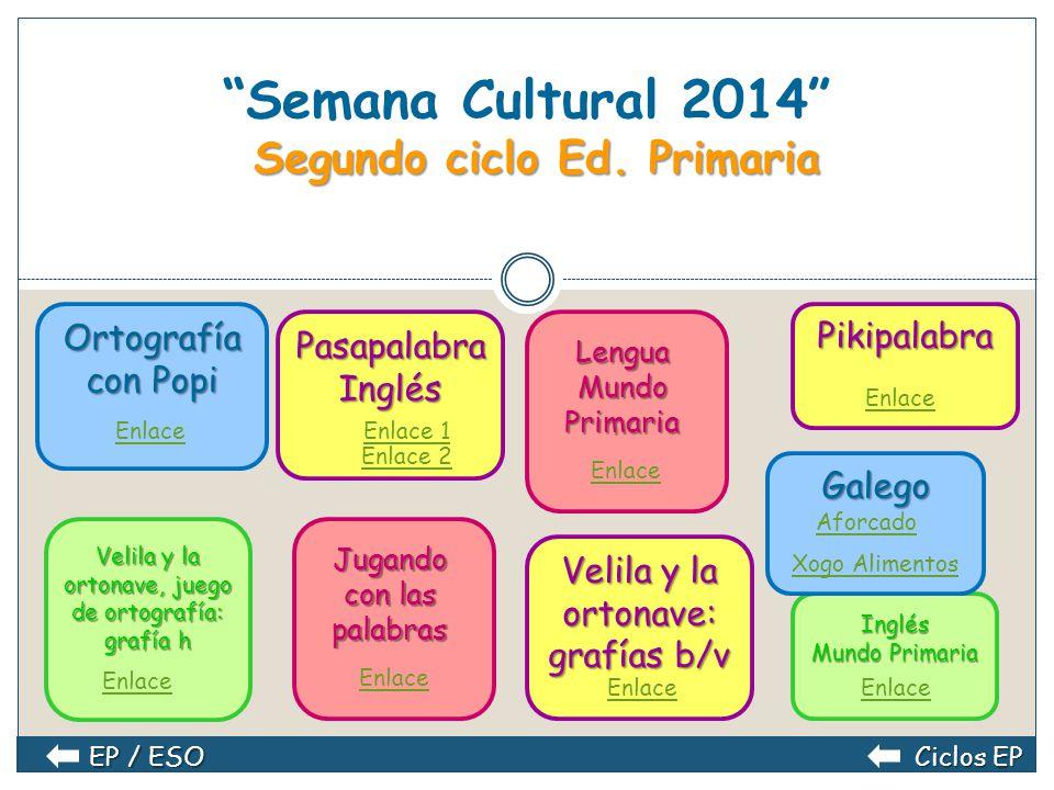 Segundo ciclo Ed.Primaria Semana Cultural 2014 Segundo ciclo Ed.