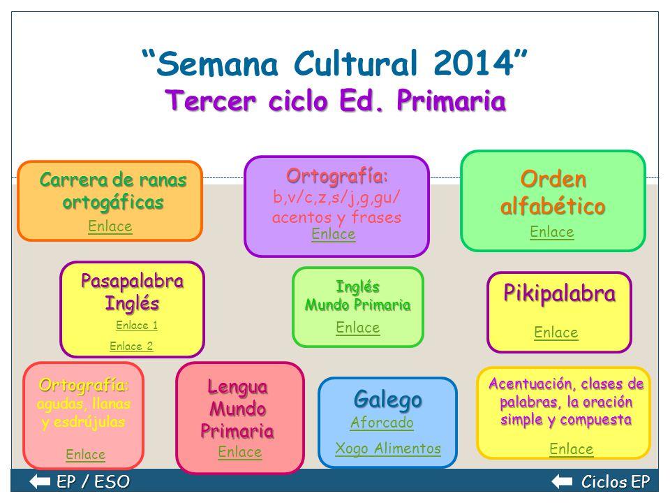 Segundo ciclo Ed. Primaria Semana Cultural 2014 Segundo ciclo Ed. Primaria Ortografía con Popi Enlace Velila y la ortonave: grafías b/v Enlace Velila