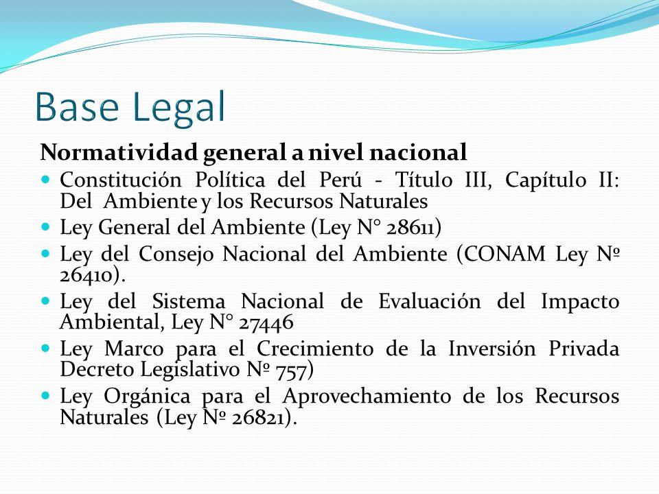Normatividad Especifica Ambiental Sector Energìa y Minas Reglamento de Protección Ambiental para las Actividades Mineras, aprobado a través del D.S.