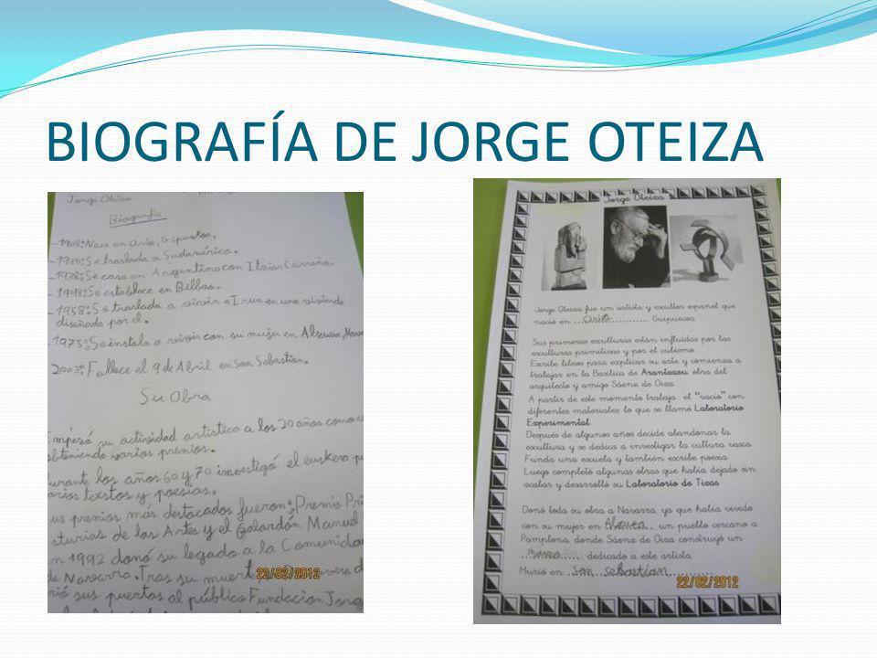 BIOGRAFÍA DE JORGE OTEIZA