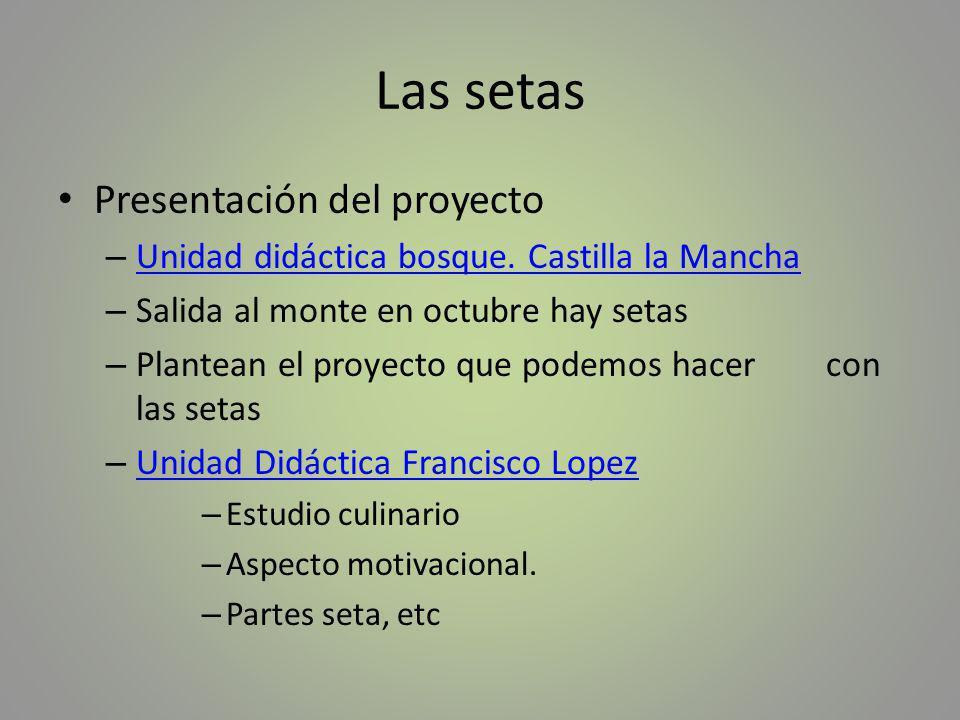 Presentación del proyecto – Unidad didáctica bosque. Castilla la Mancha Unidad didáctica bosque. Castilla la Mancha – Salida al monte en octubre hay s